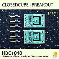 closedcube hdc1010Low Power Hohe Genauigkeit Digital I2C Feuchtigkeit und Temperatur Sensor Breakout Board (2Pcs)
