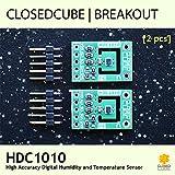 Closedcube Hdc1010faible Puissance haute précision Digital I2C humidité et de température Sensor Breakout Board (lot de 2)