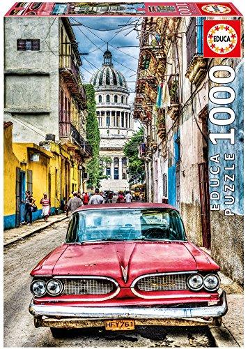 Educa Borrás - Puzzle de 1000 Piezas, Coche en la Habana (16754)