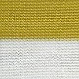 Frangivista paravento per recinzioni 500x180 cm - frangivento protezione da raggi UV - fissaggio incluso - giallo-bianco