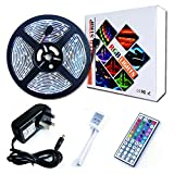 RoLightic 5M Waterproof Led Strip Light, Multi-Color,SMD 5050 150LEDs Color Changing Flexible Led Strip Kit with 44 key Remote Controller + Power Adapter for Home Kitchen Cabinet Car TV Lighting Decoration