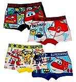 Super Wings Unterwäsche Boxer Shorts für Jungen 4er Set je 2x verschiedene Motive