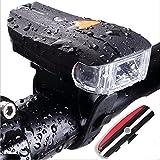 A.D Fahrradlicht LED Set - USB Wasserdichte Aufladbar 5 Licht-Modi Fahrradlampe Fahrradbeleuchtung Frontlicht und Rücklicht für Radfahren Camping Outdoor Sport Jagen Wandern