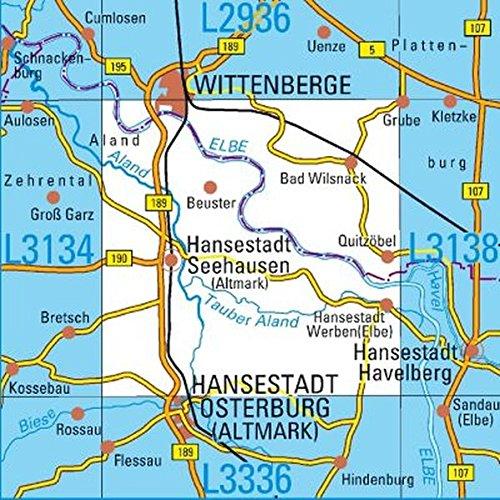 L3136 Wittenberge Topographische Karte 1:50000: DTK50 Sachsen-Anhalt