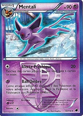 carte Pokémon Mentali 90 PV 48/116 GLACIATION PLASMA NEUF FR