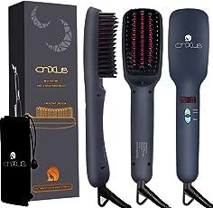 Ionischer Haarglätter Bürste, CNXUS MCH Keramische Heizung Glättbürste, LED-Display + einstellbare Temperatur Haarglättung Bürste, Anti Verbrühen+Auto abgeschaltet Tragbare Glättungbürste