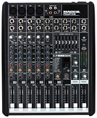 Mackie PROFX8 8-Channel Compact Effects Mixer with USB