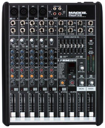 Mackie ProFX8 - Mezclador para DJ (32 Bit, 29 cm, 9,1 cm, 35,7 cm, Pentium 4, 512 MB)