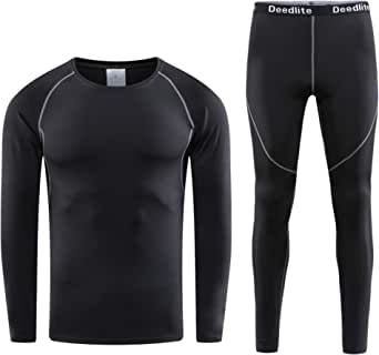 Ulogu Thermal Underwear Mens Long Johns Set Quick Dry Thermal Leggings Base Layer Long Sleeve