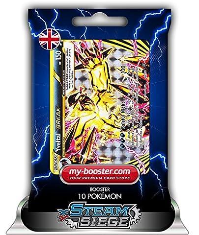 YVELTAL BREAK 66/114 150HP XY11 STEAM SIEGE - Booster de 10 cartes Pokemon anglaises my-booster
