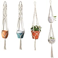 ecofynd Cotton Plant Hanger, White, 40 - 60 inches long , 4 Pieces