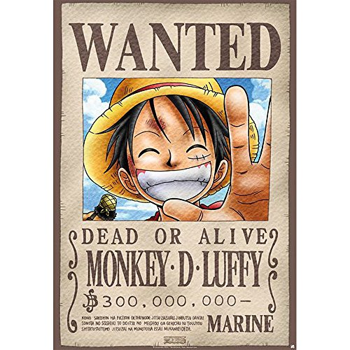 Abismal - Placa Metal - Pieza -Luffy Wanted