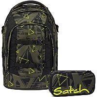 Satch Pack Geo Storm Schulrucksack Set 2tlg.
