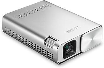 Asus E1 ZenBeam Premium LED-Beamer (HDMI/MHL, USB, 854 x 480, Batterie) silber