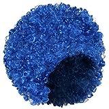 Shenky - Parrucca donna - ideale per Carnevale - taglio corto/afro - Blu scuro