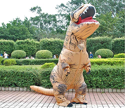 Diagon store Aufblasbares Kostüm für Erwachsene, Kinder, Dinosaurier-T-Shirt Rex Kostüme Blow Up Kostüm, Maskottchen, Cosplay-Kostüm für Männer und Frauen, ()