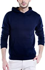 Campus Sutra Men's Cotton Plain Hoodie