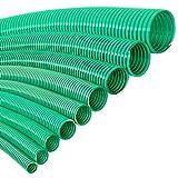 VALEKNA FLEXTUBE GR Ø 25mm (1 Zoll) Meterware PVC Spiralschlauch Saugschlauch und Druckschlauch für leichte Anwendungen