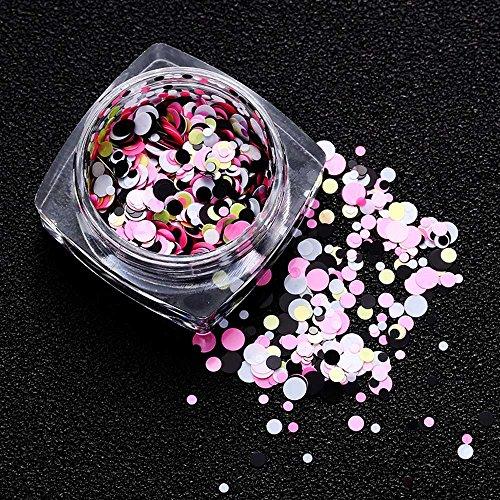 TAOtTAO 1.5g Dekorative helle Pailletten der Nagelkunst mischte runde dünne Nagel-Kunst-Glitter Paillette Nagel-Tipp-Gel-Polnisch-Dekoration (L) -