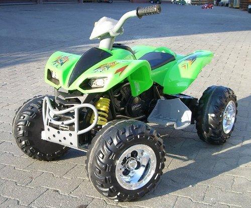 Imagen principal de crooza ® QUAD / ATV Coche con Motor y Batería de 12V coches para niños **2x MOTORES** verde