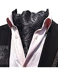 080973eb9280 YCHENG Hommes Paisley Cravate Foulard Soie De Lier Echarpe Monsieur Ascot  Scarf