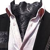 YCHENG Hommes Cravate Foulard Soie De Lier Echarpe Monsieur Paisley Cravat Ascot Scarf Ecru Taille unique