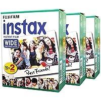 Fujifilm Film photo instantané 60 pour appareil photo Instax Wide 210200100300