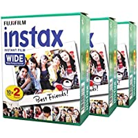 Fuji Fujifilm Instax Wide 60 for Instax Wide 210 200 100 300 Instant Photo Film Camera