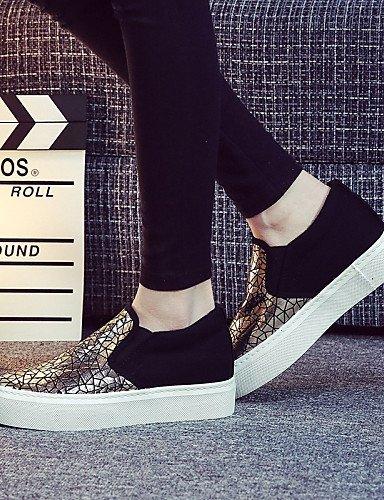ShangYi gyht Scarpe Donna - Sneakers alla moda / Scarpe da ginnastica / Senza lacci - Tempo libero / Ufficio e lavoro / Casual / Sportivo -Plateau / Black