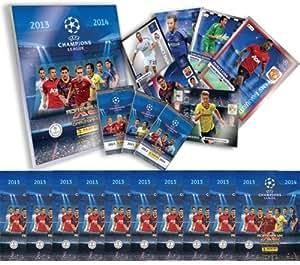 Panini Champions League Adrenalyn XL 2013 - 2014 Starter Pack Binder (Comprend 1x carte en édition limitée RANDOM) et 10 boosters supplémentaires de cartes