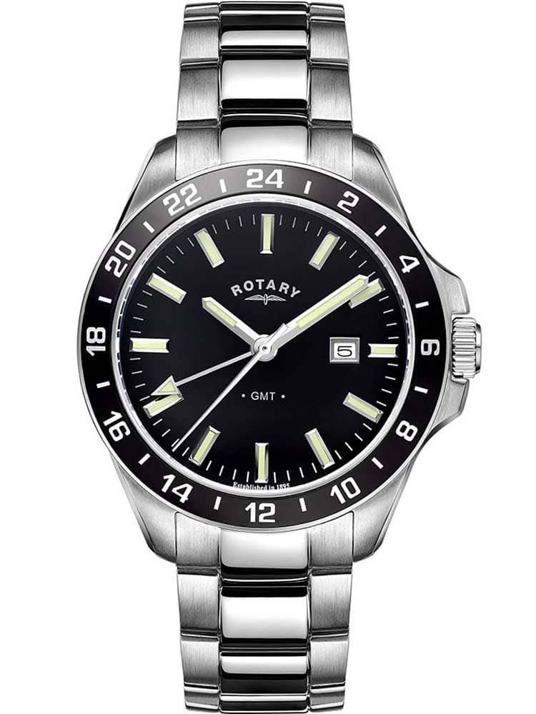 Rotary Mens Analogue Classic Quartz Watch with Stainless Steel Strap GB05017/04