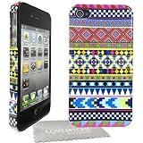 StyleBitz étui tribal et vintage pour Apple iphone 4 et 4S avec protecteur d'écran et tissu de nettoyage (multicolore)