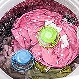 BZLine® Startseite Schwimmender Lint Haarfänger Mesh Beutel Waschmaschine Wäsche Filterbeutel (Blau)