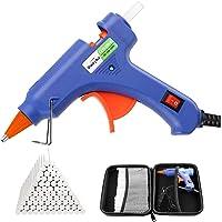 Dweyka Pistolet à Colle Chaude 75pcs Bâtons Chauffrage Rapide et Sûr Pistolet à Colle 20W, y compris un sac à outils…