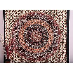 Handicrunch Mandala Tapices Tapices, indio Tapiz, Tapiz Hippie, Indian Pared ropero, indio Colcha, bohemio de la tapicería, Mandala decoración del dormitorio