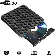 Externes DVD Laufwerk USB 3.0 Superspeed Tragbare CD DVD Brenner Extern Writer Reader Player für Apple MacBook Pro iMac Windows 7/8/10 Linux Laptops