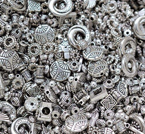 30g-mixed-spacer-beads-antique-silver-silver-coloured-great-value-for-money