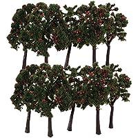 10pcs Arbre Miniature Paysage Pr Train Maquette Avec Fruit 1:75 12cm