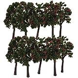 10pcs Arbre Miniature Paysage Pr Train Maquette Avec Fruit 1:75 ...