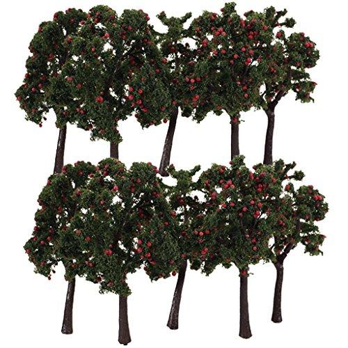 10pcs-arbre-miniature-paysage-pr-train-maquette-avec-fruit-175-12cm