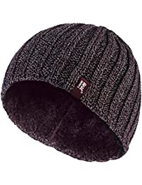 Heat Holders - Men's Thermal Fleece lined Ribbed knitted winter hat 3.4 tog - One Size