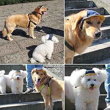 UEETEK Pet Dog Puppy Baseball Cap Visor Hat Sunhat Adjustable Chin Strap Sunbonnet 5