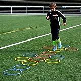 Koordinationsringe_15 Stück a 36 cm verschieden Farben_Schnelligkeitstraining von athletikor