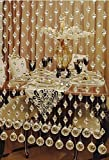 Pindia Acrylic Crystal 20 Piece Plastic Strings Bead Hanging Curtain - 7ft, Transparent