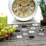 Bütic GmbH Plexiglas® Streudeko - Blume/Blüte/Margarite - Wurfdeko, Tischdeko 30mm glänzend, Anzahl:50 Stück, Farbe:Transparent gedeckt Bunt