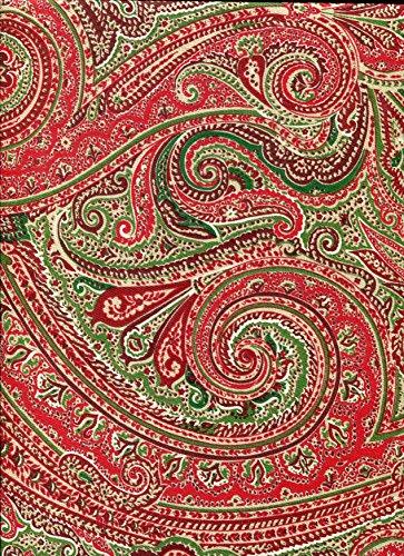 Ralph Lauren Urlaub Tischdecken Fenton Paisley/rot-verschiedene Größen-100% Baumwolle, baumwolle, Red, Green, White, 60