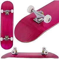 COSTWAY Skateboard Mini Cruiser Completa Longboard in Legno di Acero, Colori a Scelta, 79 x 20 cm