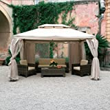 HOMEGARDEN Gazebo de aluminio 4 x 4 metros Color crudo