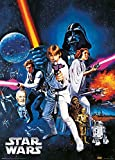 1art1 106539 Star Wars - A New Hope Metallic Effekt Kunstdruck 70 x 50 cm