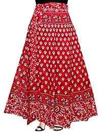 Silver Organisation Women's Cotton Wrap Around Western Skirt (SK_5219, Multicolour, Free Size)